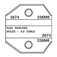 Paladin Tools PA2674 1300/8000 Series AMP/Molex STP RJ45 Die