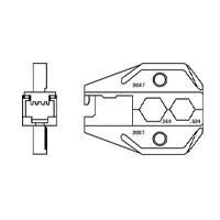 """Paladin Tools PA2687 1300/8000 Series Combo RJ45 & CATV """"F"""" Die"""