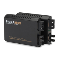 """Signamax 065-1132 100FX, SM/SC, 15 km to MM/SC, 2 km Converter"""