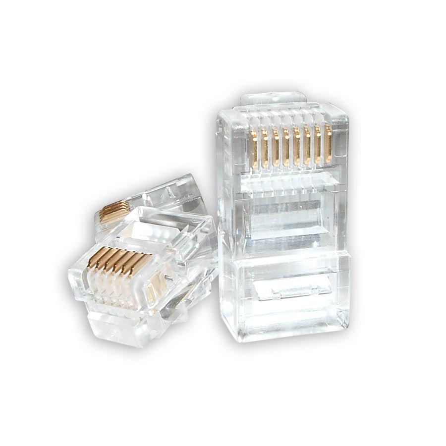 AMP 5-554739-3  8 Conductor RJ45 Plug (Sold 100 per Box)