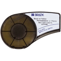 """Brady M21-250-430 BK on CL, width 0.250"""" x length 21ft, Polyester Labels for Component Marking"""