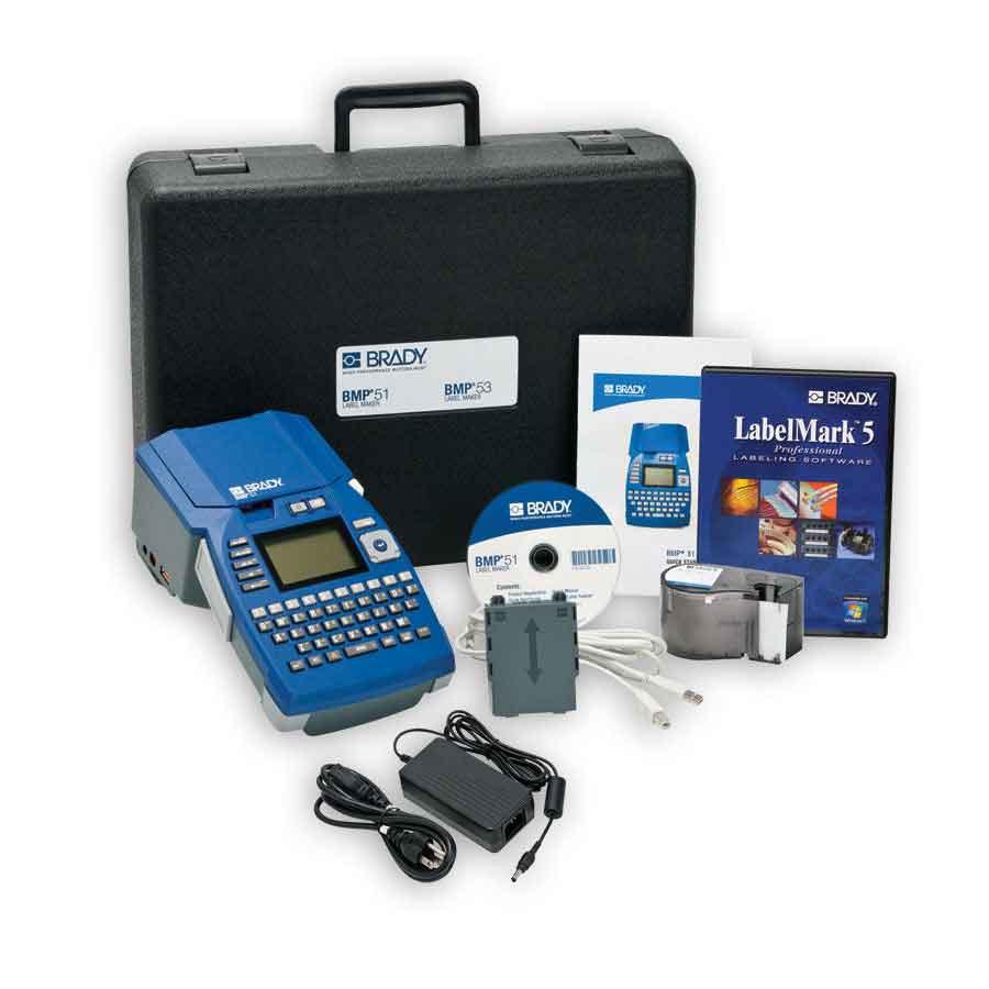 """Brady 75447314705 BMP51 Printer, LabelMark 5 Software and AC Adaptor"""