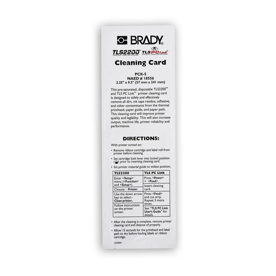 Brady PCK-5 Brady Cleaning Kit 5-Pack