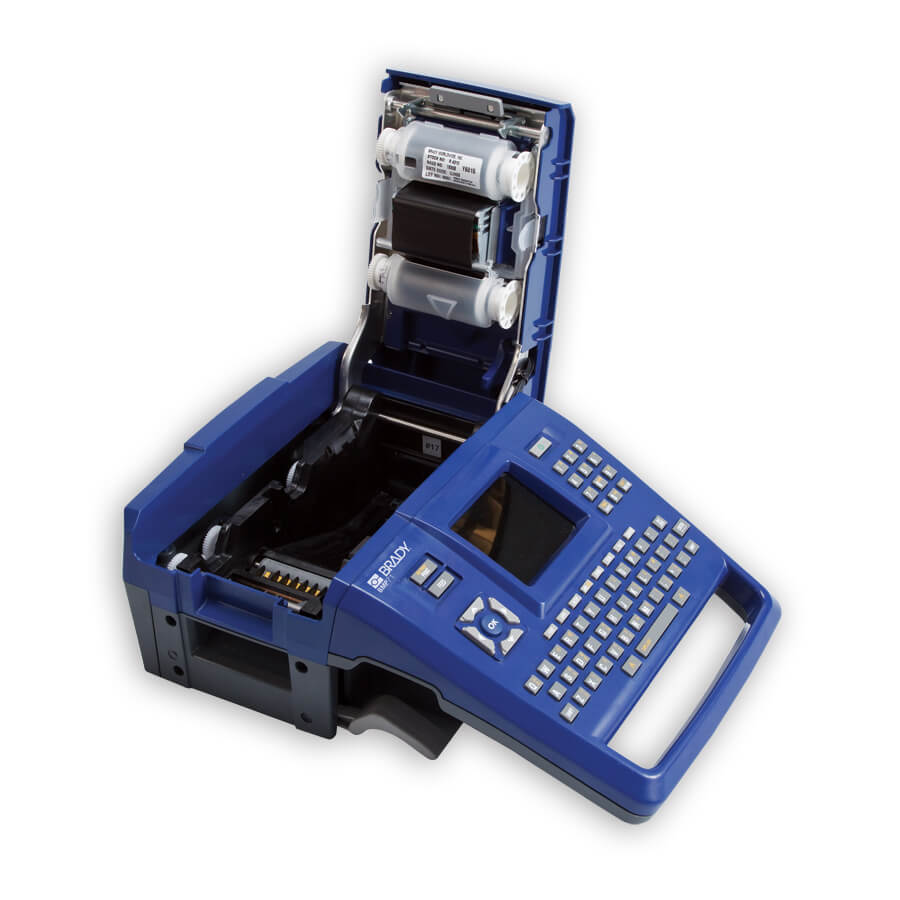 It is a graphic of Ridiculous Brady Handimark Portable Label Maker Load New Supply