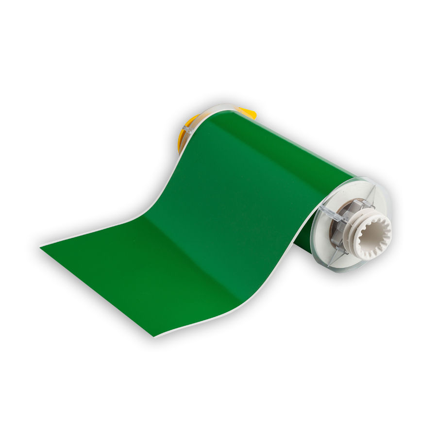 """Brady 13555 Indoor/Outdoor Grade Vinyl Tape, B-595, Green, 8.000, 50ft., 1 roll, 13512 Labels"""