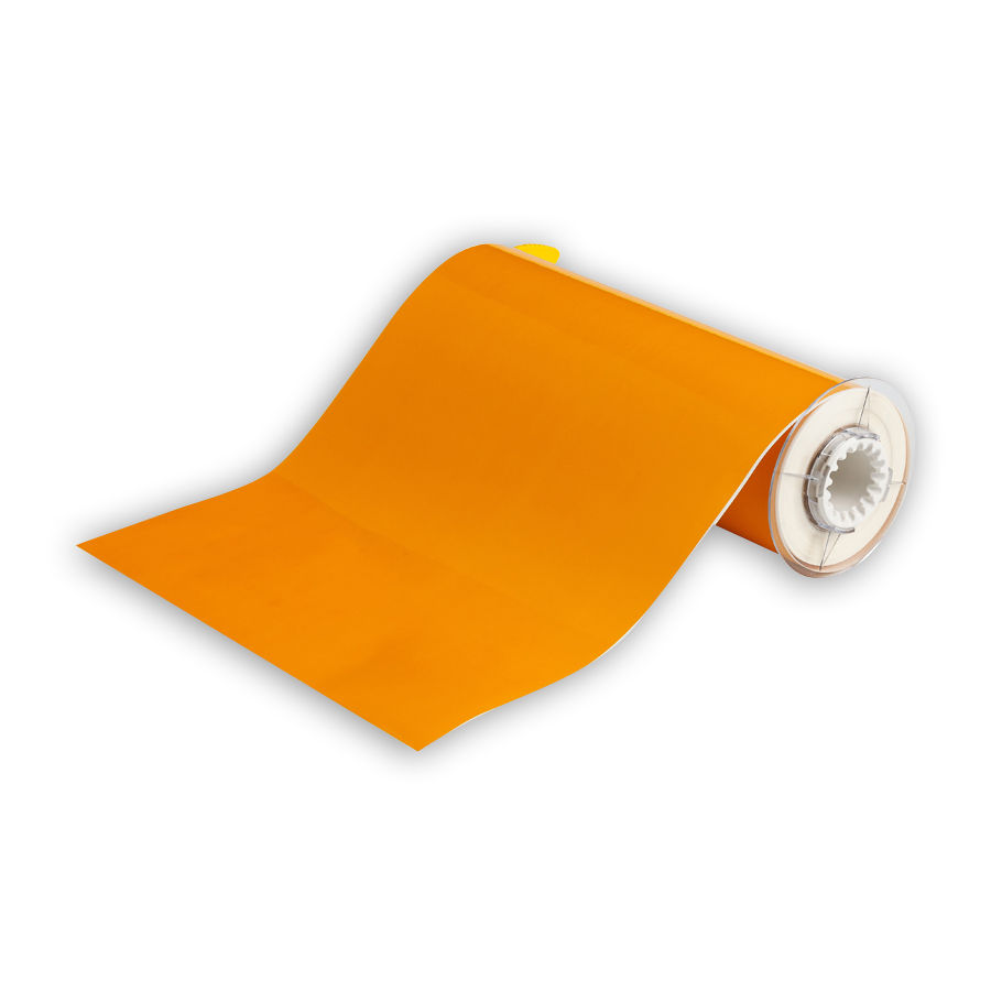 """Brady 13578 Low-Halide Polyester, B-569, Yellow, 10.000, 50ft., 1 roll (cont), 13510 Labels"""