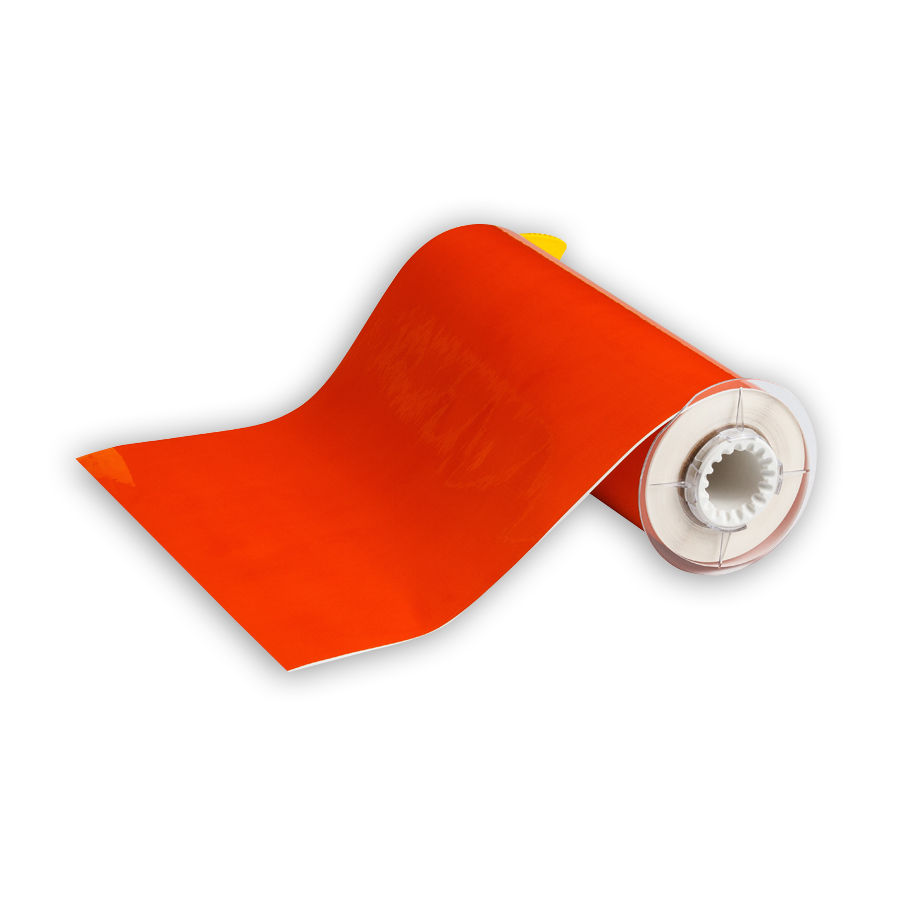 """Brady 13579 Low-Halide Polyester, B-569, Orange, 10.000, 50ft., 1 roll (cont), 13510 Labels"""