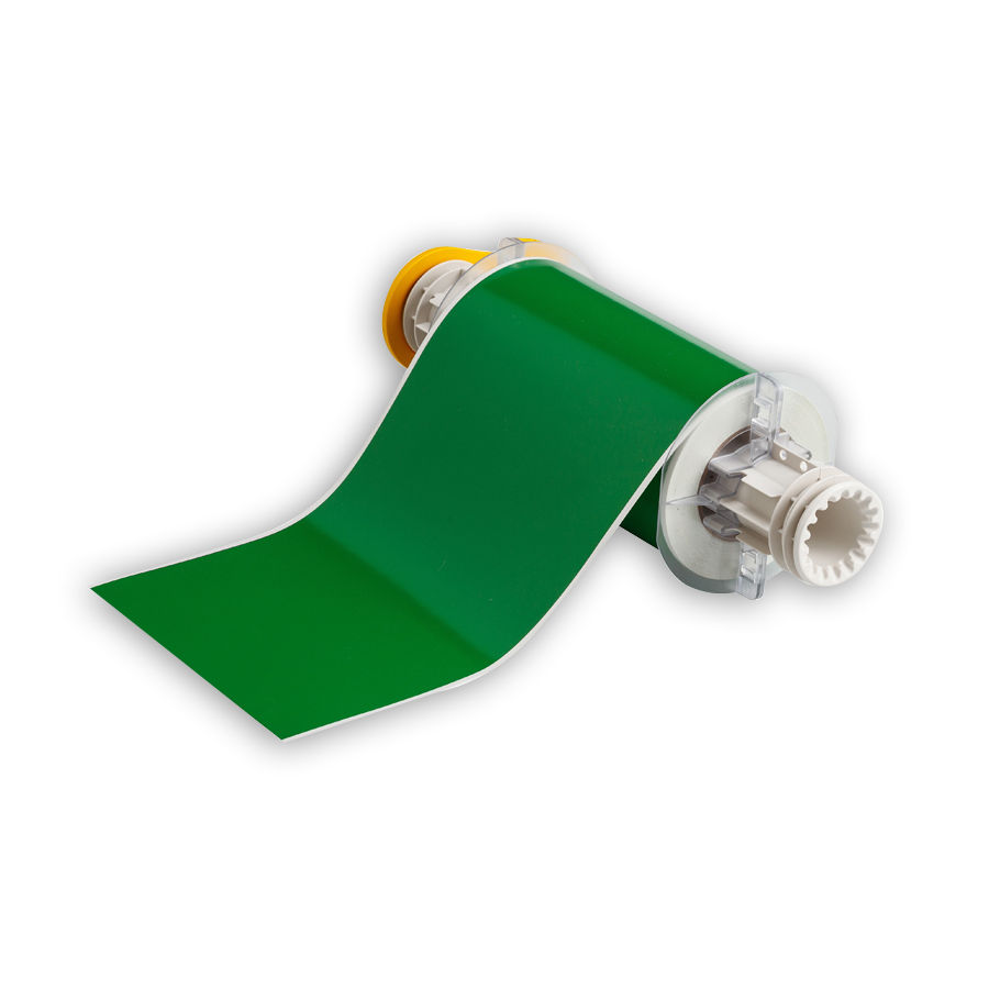 """Brady 13603 Indoor/Outdoor Grade Vinyl Tape, B-595, Green, 6.000, 50ft., 1 roll, 13513 Labels"""