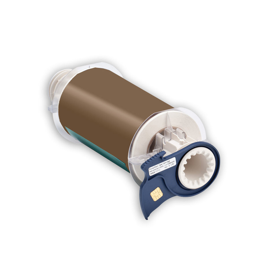 """Brady 13606 Indoor/Outdoor Grade Vinyl Tape, B-595, Gold, 6.000, 50ft., 1 roll, 13511 Labels"""