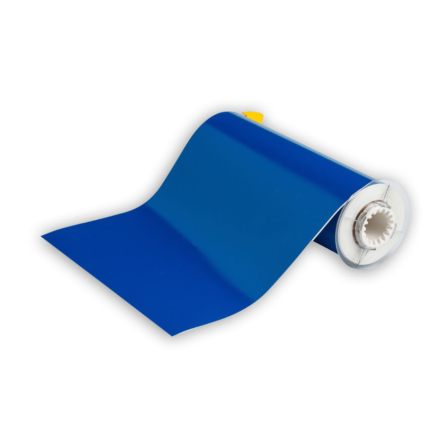 """Brady 13611 Indoor/Outdoor Grade Vinyl Tape, B-595, Blue, 10.000, 50ft., 1 roll, 13512 Labels"""