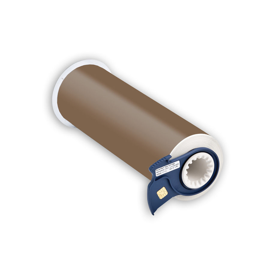 """Brady 13615 Indoor/Outdoor Grade Vinyl Tape, B-595, Gold, 10.000, 50ft., 1 roll, 13510 Labels"""