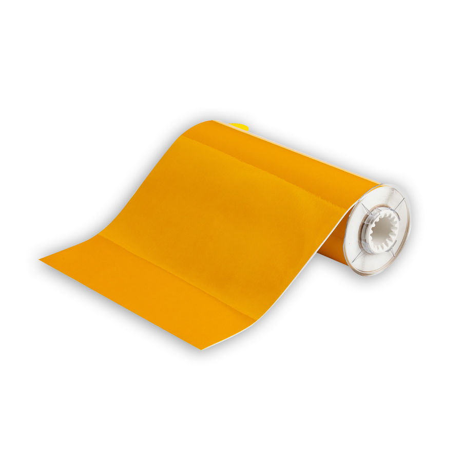 """Brady 51586 Retro Reflective Tape, B-584, Yellow, 10.000, 33ft., 1 roll (cont), 13510 Labels"""
