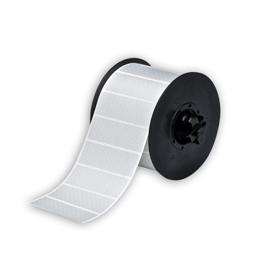 """Brady B30-18-438 1"""" x 3"""" (1,225 Labels/Roll) Tamper Evident Metalized Polyester BBP31 Labels"""