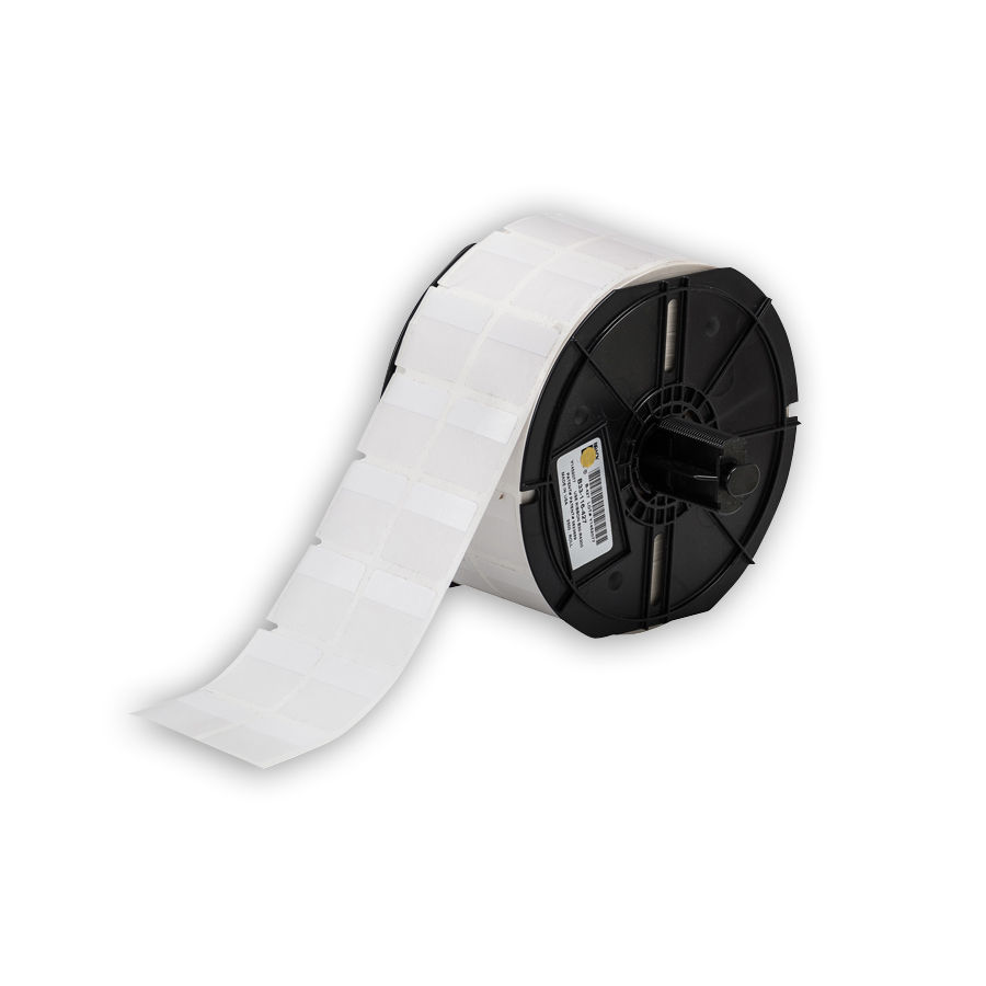 """Brady B33-116-427 Self-Laminating Vinyl Wire & Cable Labels, White, 1.000, 1.000, 1.100, 1.125, 2.300, 0.375, 2, 2500 Labels"""
