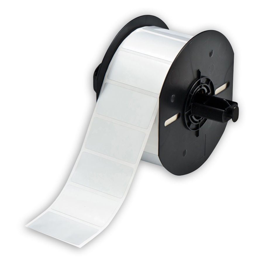 """Brady B33-17-434 Polyester Labels, Gloss Silver, 2.000, 1.000, 1.125, 2.200, 1, 1500 Labels"""
