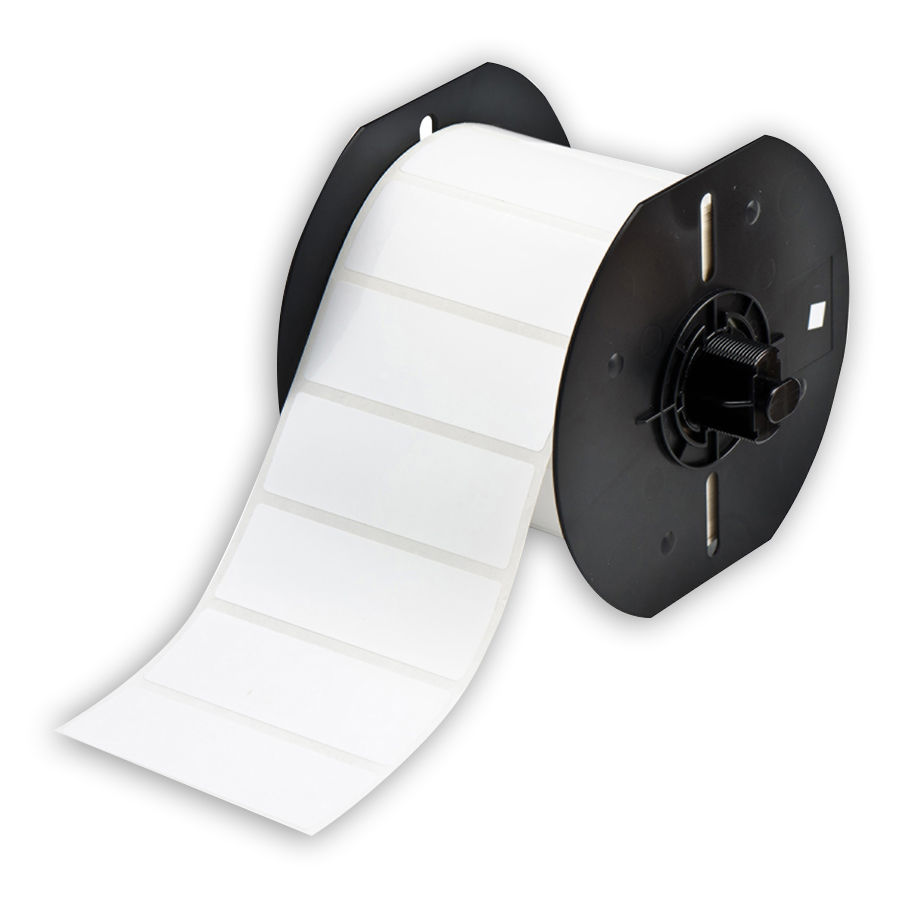 """Brady B33-18-424 Paper Labels, White, 3.000, 1.000, 1.125, 3.200, 1, 1500 Labels"""