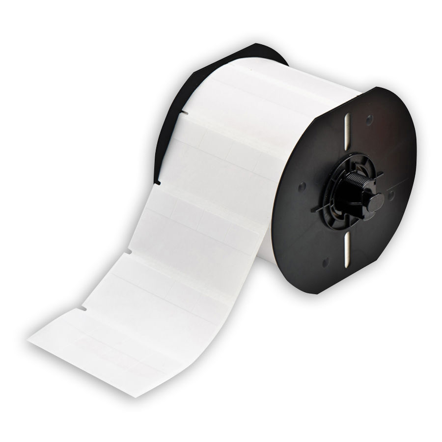 """Brady B33-74-427 Self-Laminating Vinyl Wire & Cable Labels, White, 0.800, 1.437, 0.800, 1.625, 3.400, 0.500, 4, 5000 Labels"""