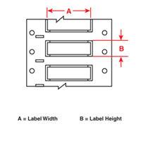 """Brady HX-1000-3-WT Double-Sided Printable, 2ö Sleeve Width, White, 250, 2/0 to 0.950"""" dia., 0.450 - 0.950, 1.000, 0.500, 0.035 ? 0.005, 3.000, PR Plus Labels"""