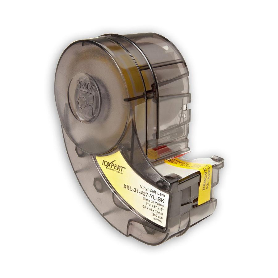 """Brady IDXPERT XSL-31-427-YL-BK UTP Copper, Fiber, Coaxial 1.000"""" x 1.500"""" x 0.500"""" 250 Labels"""