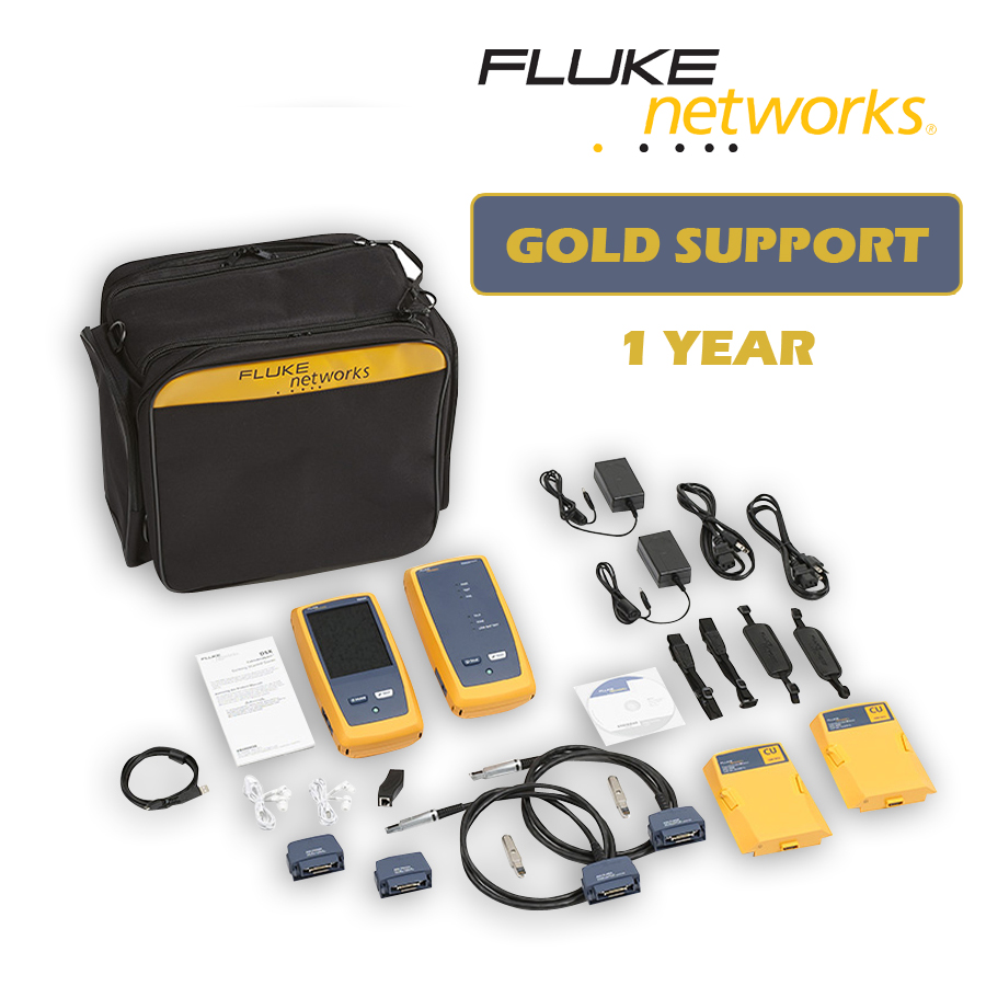 Fluke Networks DSX-5000/GLD DSX-5000 CableAnalyzer with 1 year Gold Support