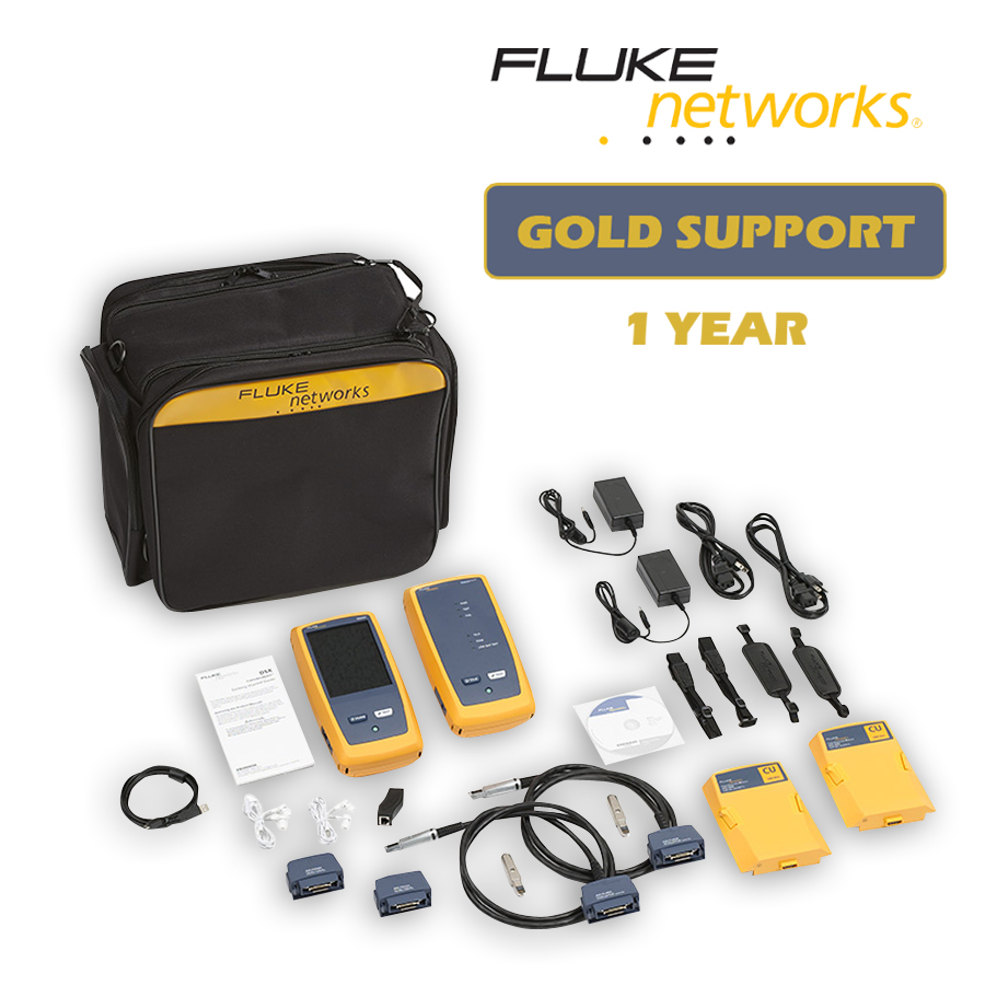 Fluke Networks DSX-5000Qi/GLD DSX-5000 with OLTS Quad and Fiber Inspection with 1 year Gold Support