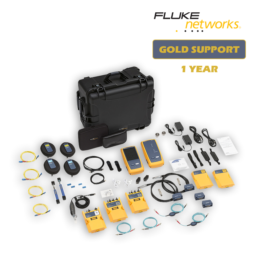 """Fluke Networks DSX-5000QOi/GLD DSX-5000 with OLTS Quad, OTDR Quad and Fiber Inspection with 1 year Gold Support"""