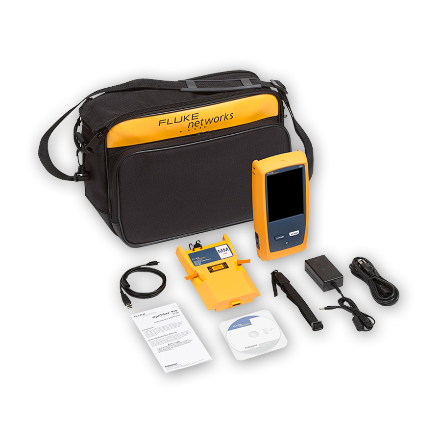 Fluke Networks OFP-100-M OptiFiber Pro Multimode OTDR for troubleshooting and extended certification.