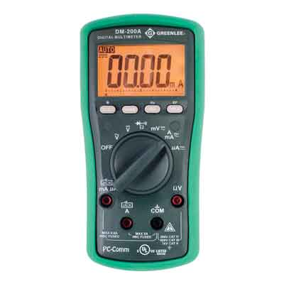 Greenlee DM-200A Digital Multimeter