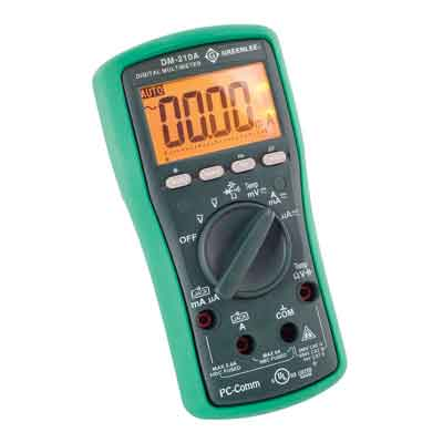 greenlee dm 210 digital multimeter manual
