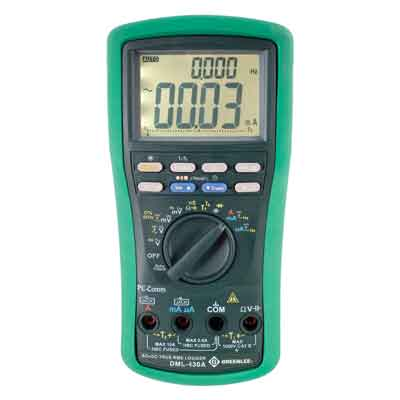 """Greenlee DML-430A Digital Logging Meter (43,000 Data Points)"""