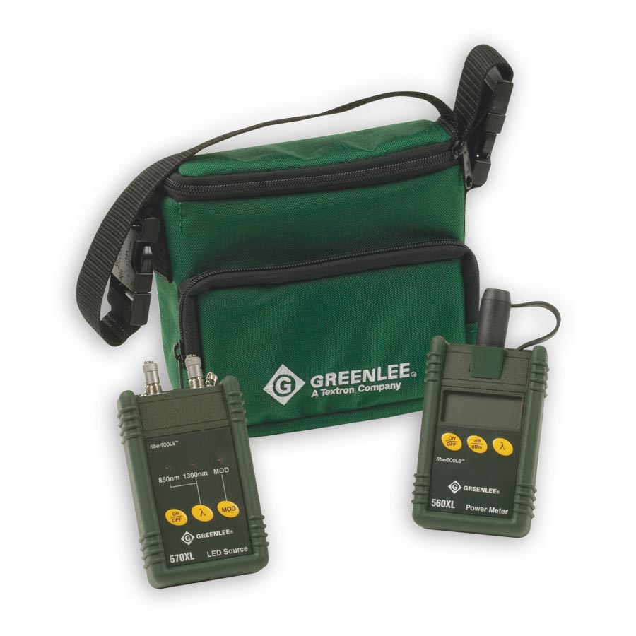 Greenlee 5670XL-FC Multimode Fiber Test Kit With FC connectors