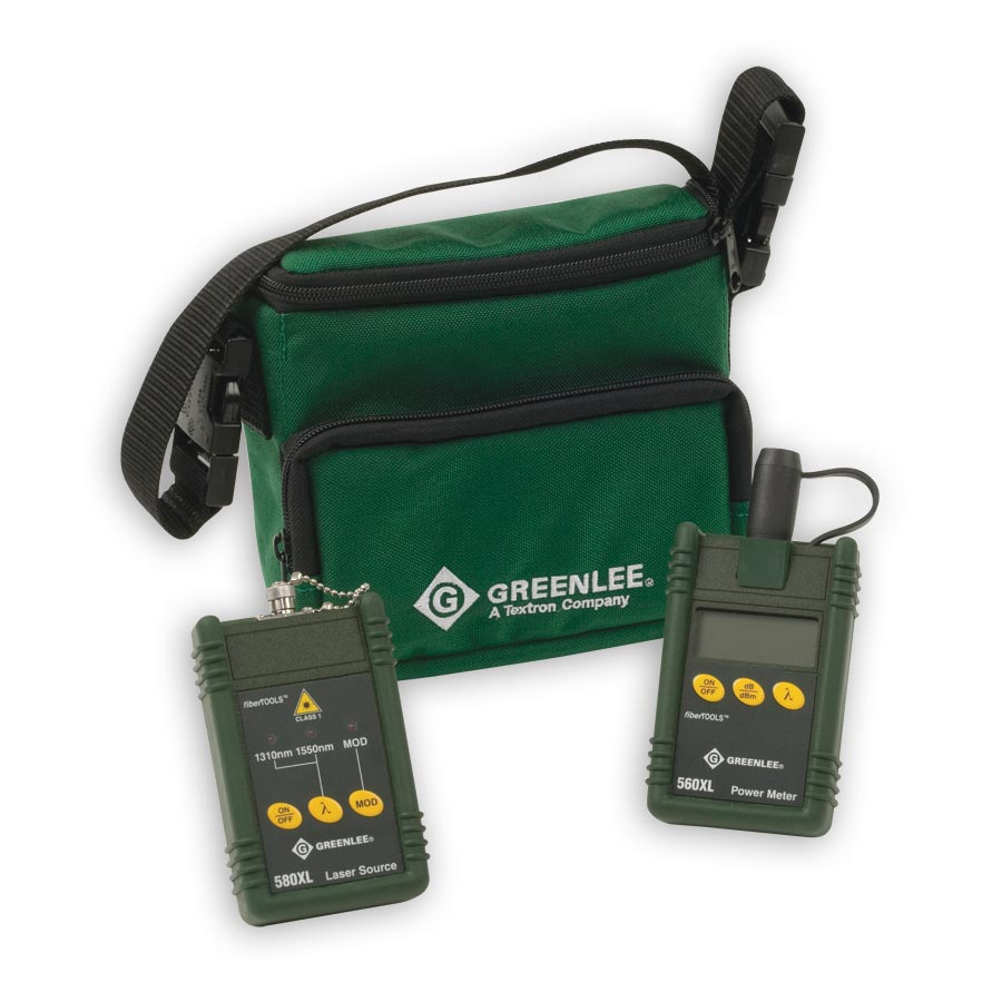 Greenlee 5680XL-SC Singlemode Fiber Test Kit With SC connectors