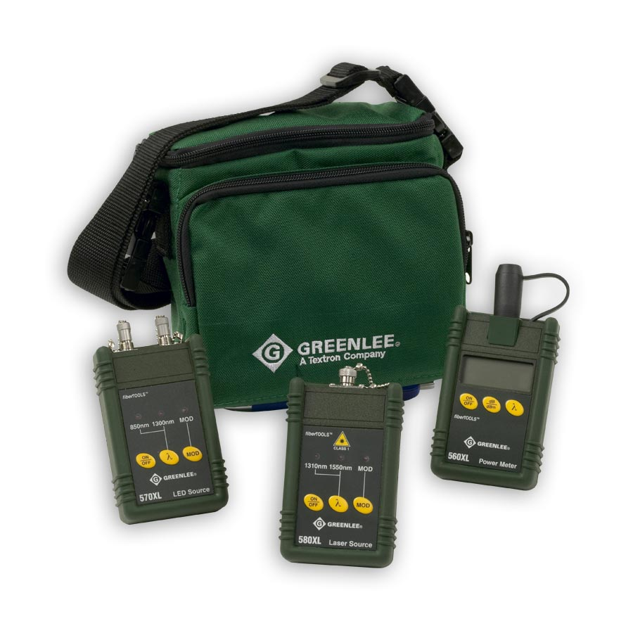 Greenlee 5890XL-FC MM & SM Fiber Test Kit w/FC connectors