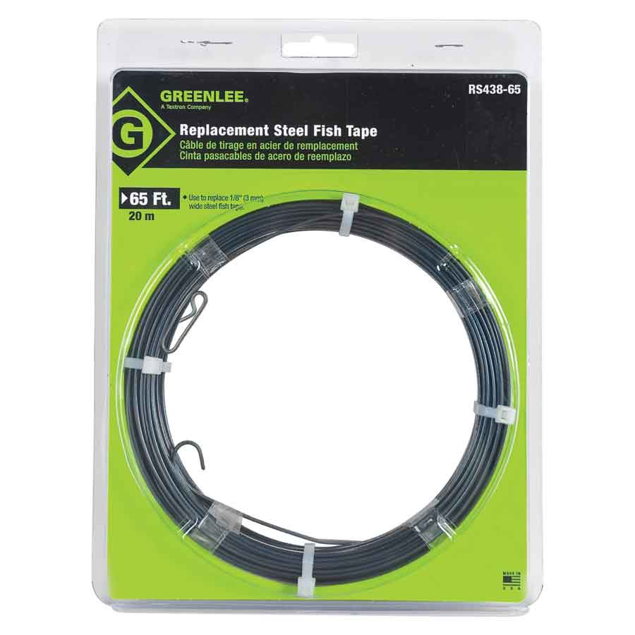 Greenlee RS438-65 Replacement Steel Fish Tape - 65' (No Case)