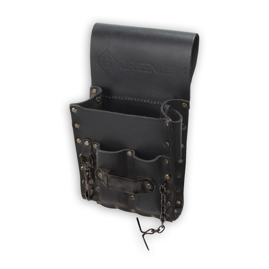 Greenlee 0258-13 Heavy-Duty 5-Pocket Leather Pouch