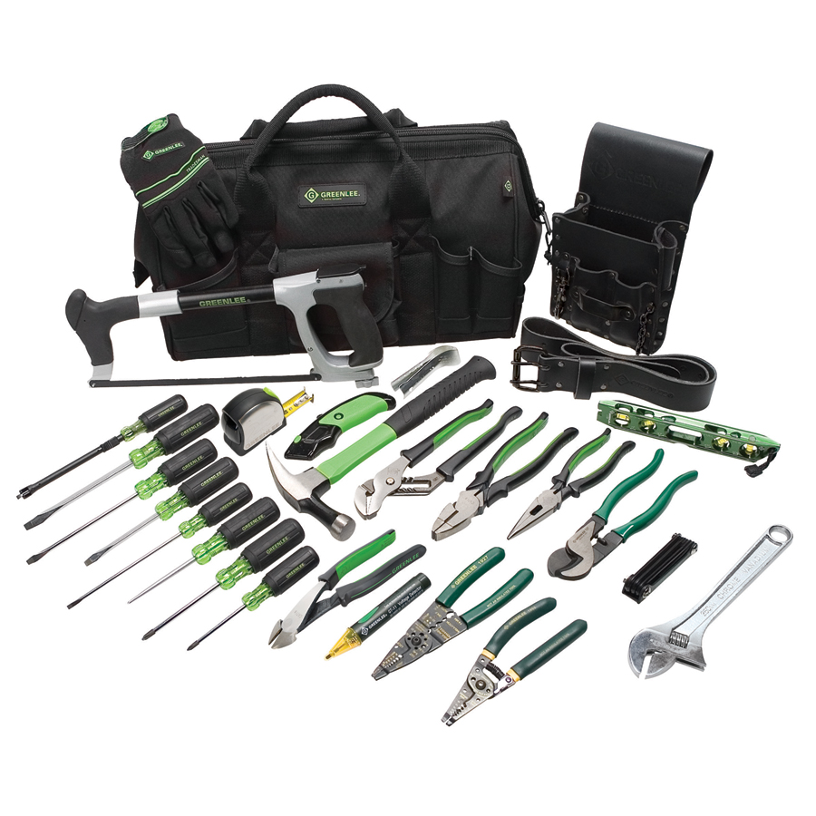 Greenlee 0159-11 Master Electricians Tool Kit 28 Piece