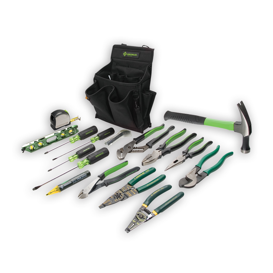 Greenlee 0159-12 Journeyman's Tool Kit 17 Piece