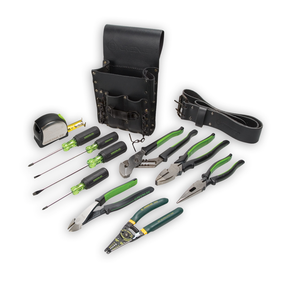 Greenlee 0159-13 Electricians Tool Kit 12 Piece