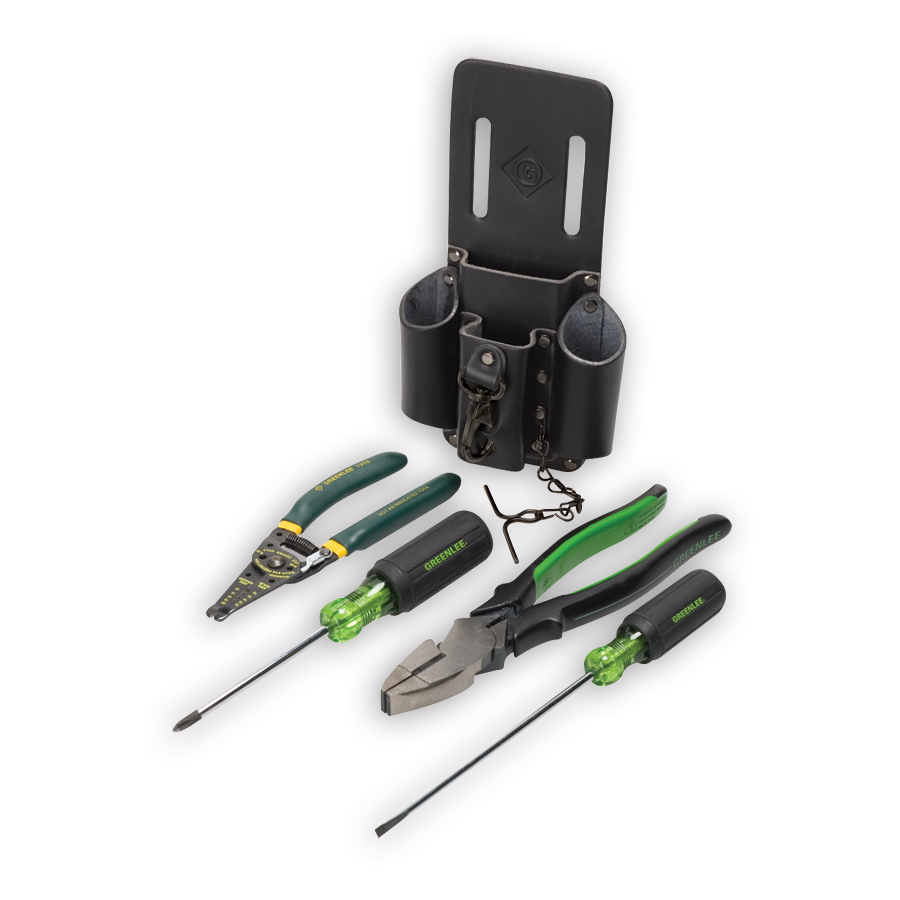 Greenlee 0159-14 Starter Electrician's Tool Kit 5 Piece