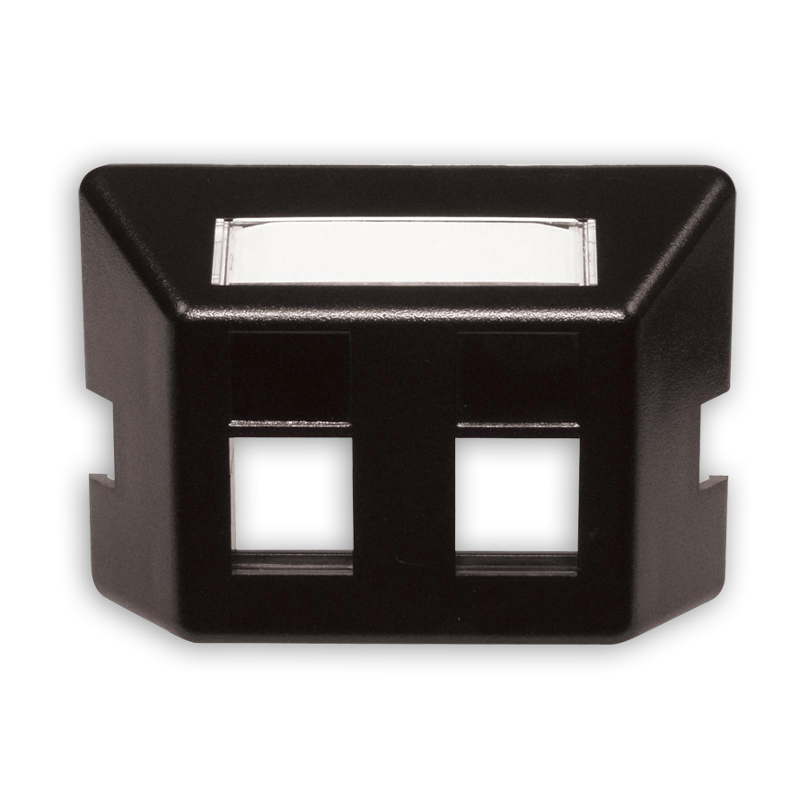 """Hubbell FP2BK Furniture Plate, 2-port, 2.71ö x 1.38ö"""