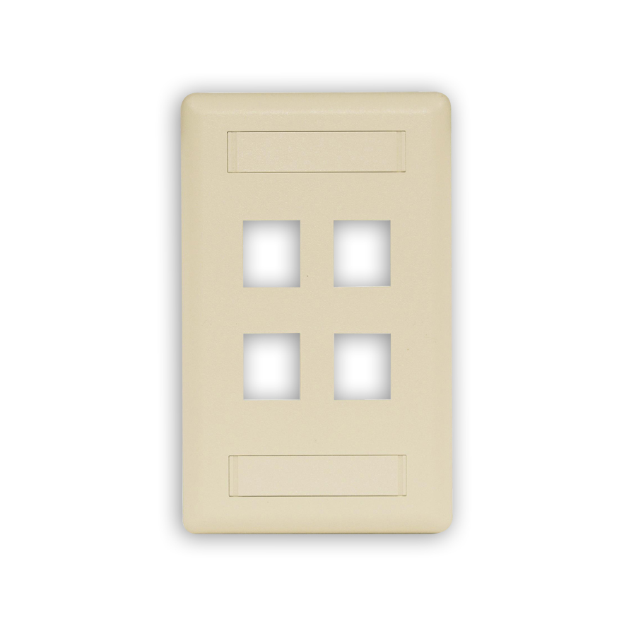 """""""Hubbell IFP14XX IFP Face Plates, 4-Port"""""""