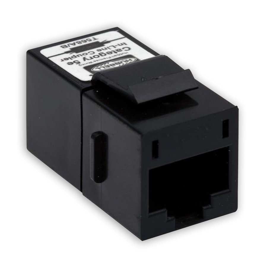 """Hubbell SFC5EBK Category 5e, Pass-Thru, F/F Coupler"""