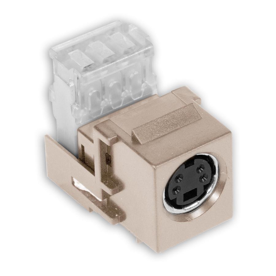 """Hubbell SFSV110XX AV Connector, S-Video, 110 Punch-Down"""