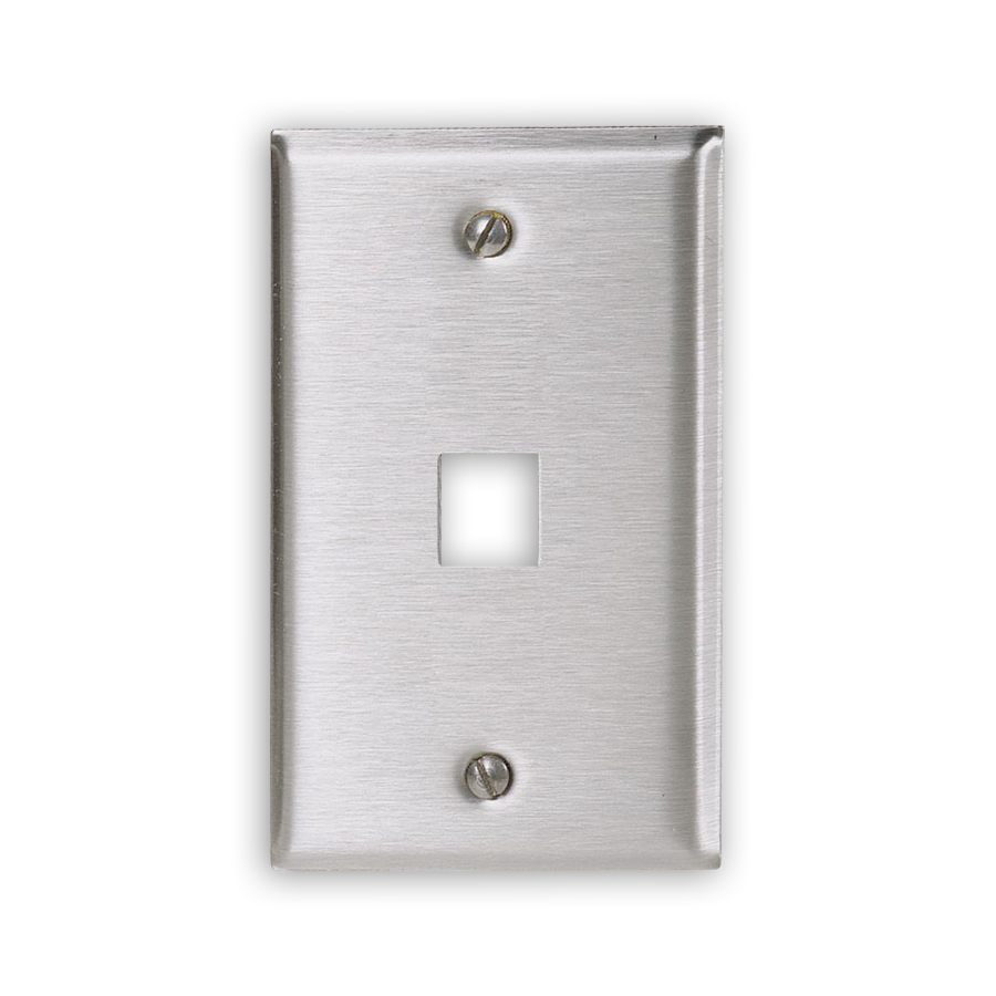 """Hubbell SSF11 Stainless Steel Plates, 1-Port"""