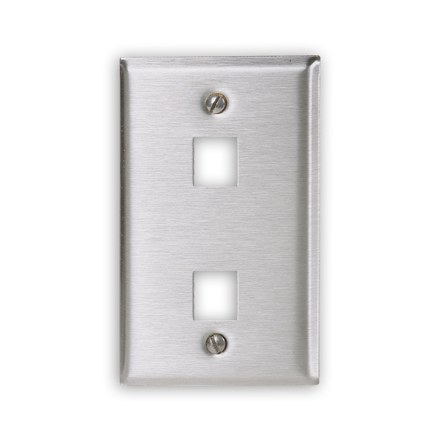 """Hubbell SSF12 Stainless Steel Plates, 2-Port"""