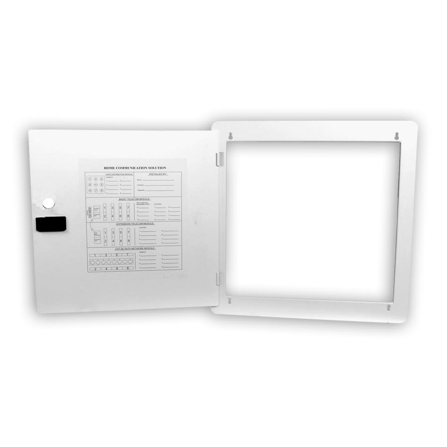 """Hubbell NSOBX10D 10 Inch Network Enclosure for MDU and Modular Applications, Hinged Door, 11.5""""H x 15.65öW x 0.58öD"""