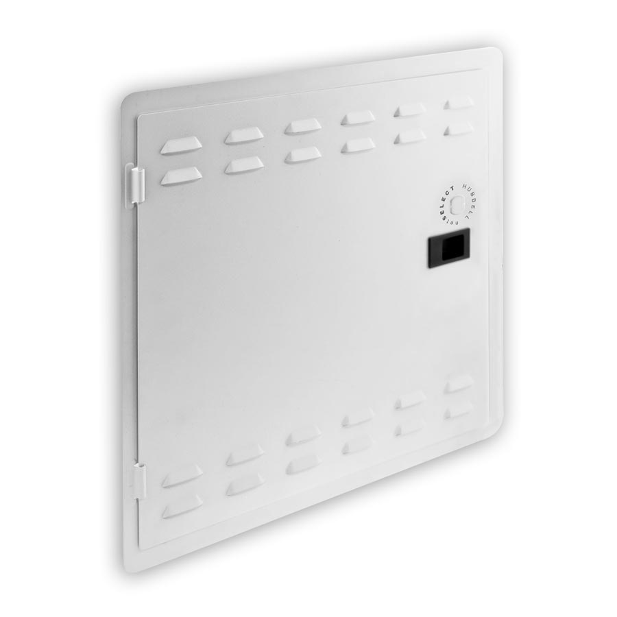 """Hubbell NSOBOX14X2 14 Inch Network Enclosure, 2öD Extension Bracket with ventilation and WiFi KOs, 15.30öH x 15.57öW x 2.00öD"""