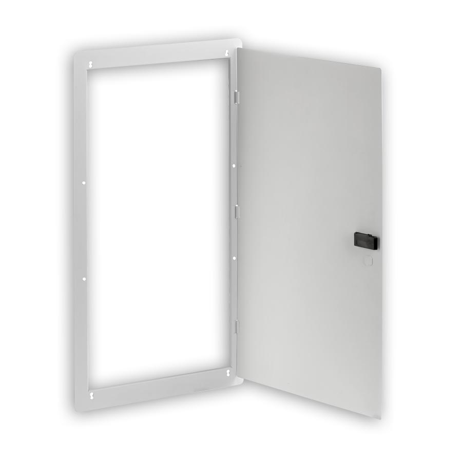 """Hubbell NSOBOX28D 28 Inch Network Enclosure, Hinged Door, 29.55öH x 15.65öW x 0.33öD"""
