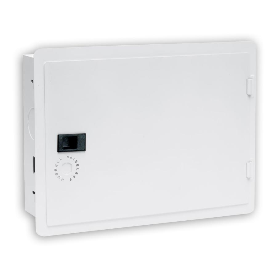 """Hubbell NSOBX10 10 Inch Network Enclosure for MDU and Modular Applications With Hinged Cover, 11.55öH x 15.65öW x 4.08öD"""