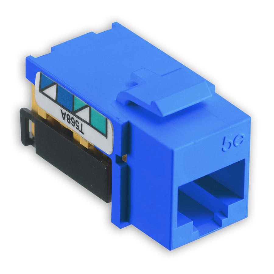Hubbell NSJ5EB netSELECT« Modular Snap Fit Cat. 5e Jack (single) Blue